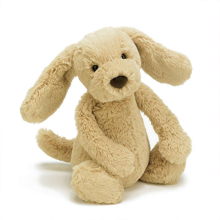 Jellycat Bal2tp Bashful Toffee Puppy Large With Organza