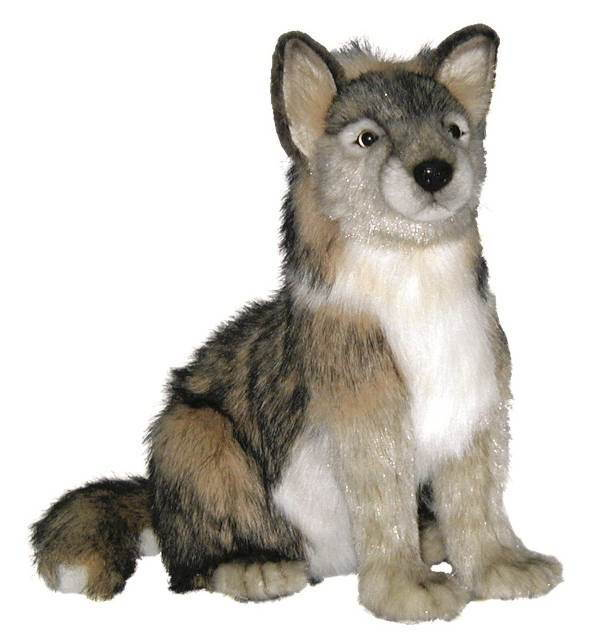 World of Bears  Hansa 4291 Wolf Cub Sitting