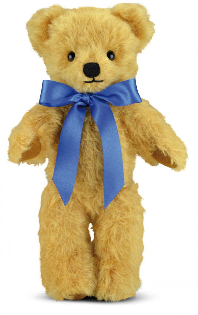 Merrythought Gm18cgm Curly Gold Mohair Teddy Bear Musical