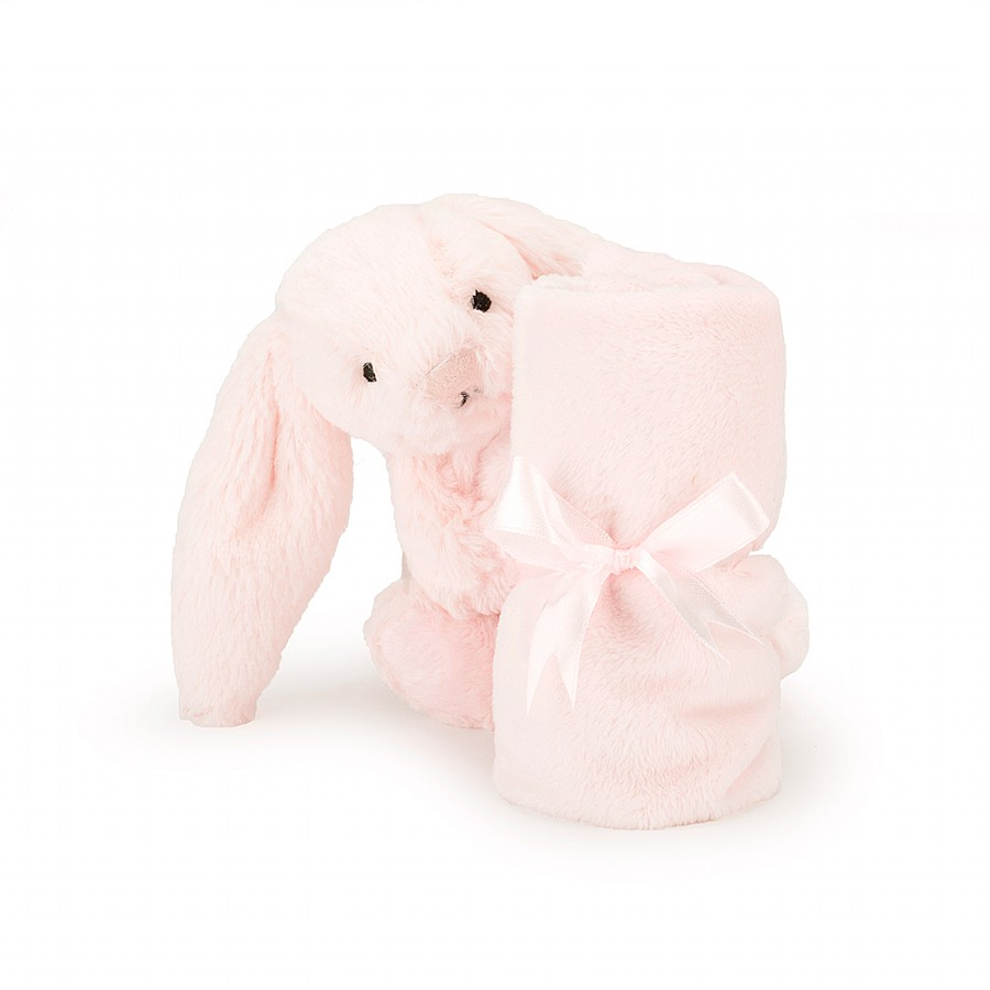 Jellycat Sob444p Bashful Pink Bunny Soother For Baby With