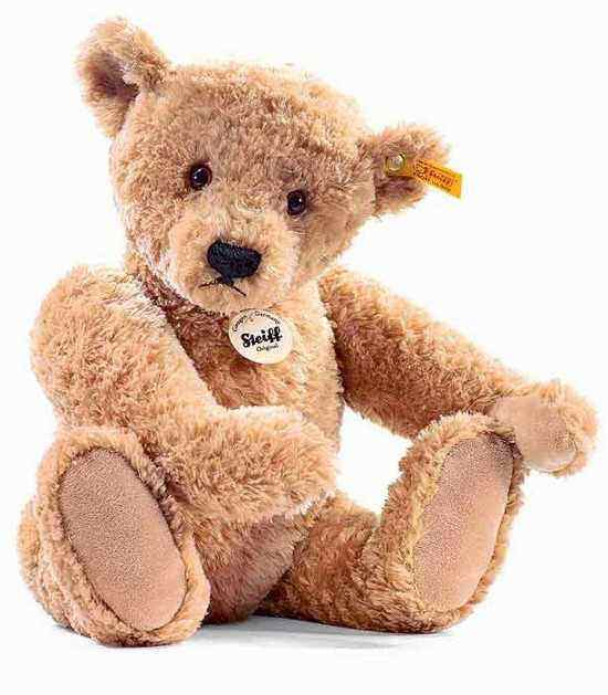 Steiff 022463 Elmar Golden Brown Cuddly Soft Plush Teddy
