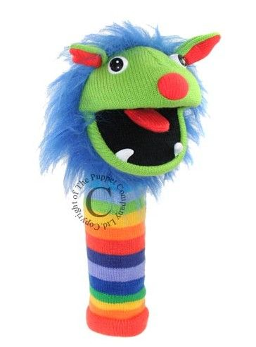 World of Bears  The Puppet Company Sockettes Glove Puppet - Rainbow