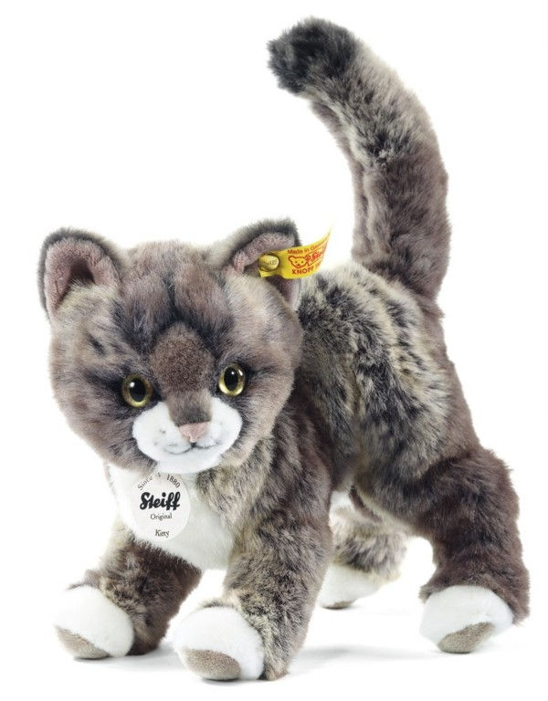 Steiff 099335 Kitty cat grey and beige with FREE Steiff Gift Box