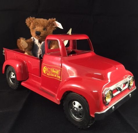 Steiff 665226 Usa Delivery Bear With Red De Salle Delivery