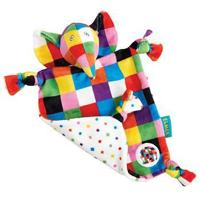 Rainbow EL1448 Elmer Soother with rattle with Organza Pull String Bag