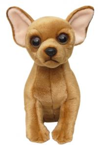 Faithful Friends FCH03 Chihuahua (Short Coat) Dog with Organza Pull String bag