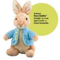 ccfb6b02299 Gund A26427 Beatrix Potter Peter Rabbit Small with Organza Pull String Bag